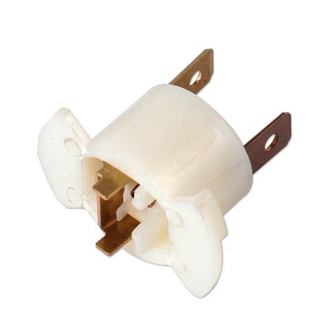 1x new white h1 halogen car auto headlight bulb socket