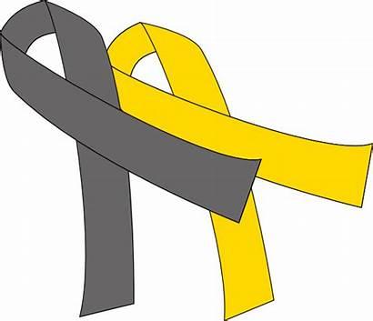 Grey Ribbon Cancer Clip Gray Ribbons Yellow