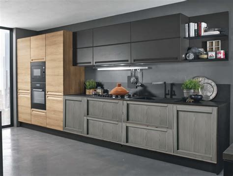 cucine moderna cucina industriale moderna lineare in offerta convenienza