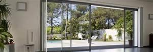 Baie à Galandage : baie vitr e galandage 4 vantaux et 2 rails baie vitr e ~ Melissatoandfro.com Idées de Décoration