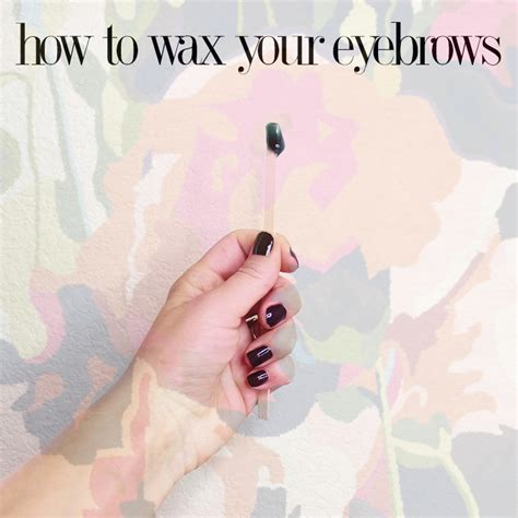 Get Your Brow Wax On  Citizens Of Beauty