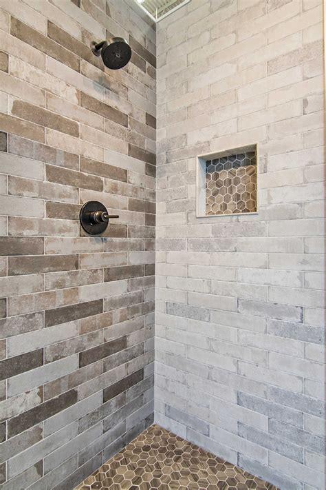 bathroom brick earth tone shower tile bricklane olive porcelain wall  floor tile https