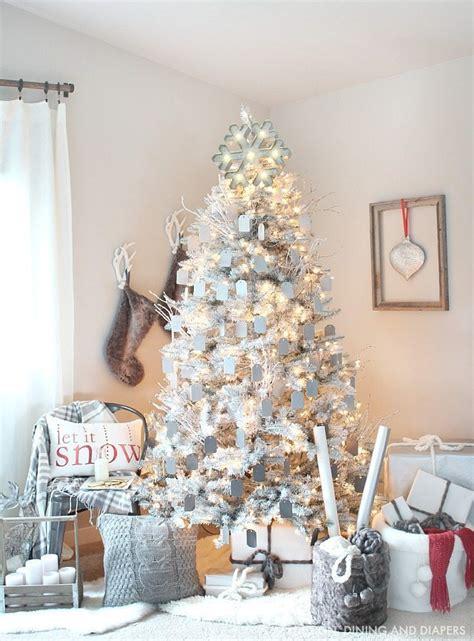 gray  white christmas tree taryn whiteaker