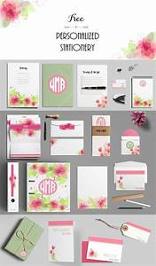 Create Printable Invitations Online Free Free Custom Pink Stationery Set Customize Online And