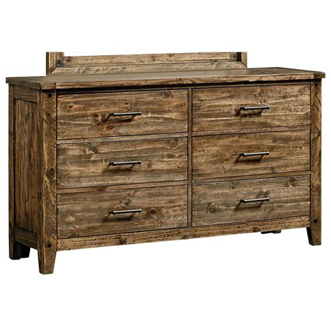 Furniture Stores Dressers by Standard Furniture Nelson 92509 Rustic Six Drawer Dresser