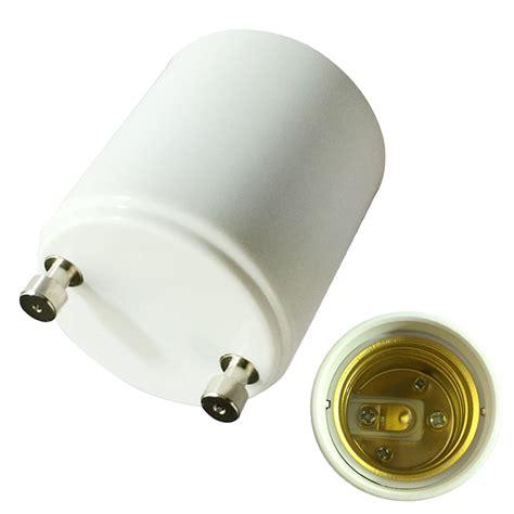 2 pcs gu24 to e27 e26 led light bulbs l holder adapter