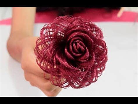 Como hacer una rosa de tela // Fabric Flowers Roses