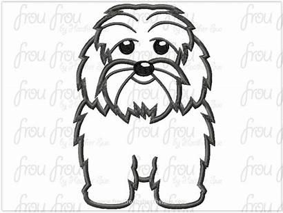 Poodle Mix Embroidery Dog Digital