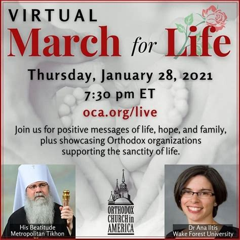 Virtual March for Life 2021 | St. Tikhon's Orthodox ...