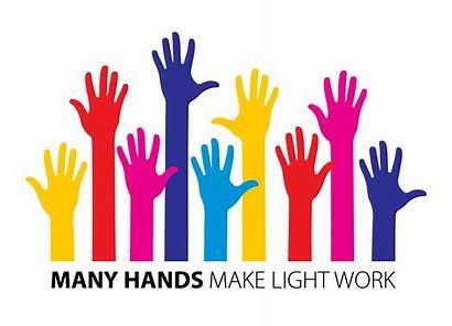 Clipart Volunteer Hand Volunteering Hands Many Transparent