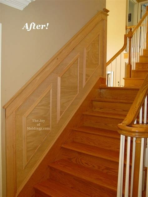 Oak Wainscoting by Before After Oak Wainscoting On Stairs The Of