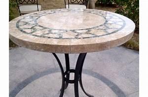 Table Ronde En Marbre : table ronde marbre indien mosa que pour jardin et patio india ~ Mglfilm.com Idées de Décoration