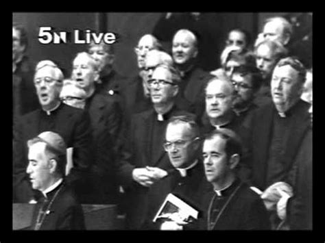 of st paul ii singing the pater noster in holy name cathedral chicago the
