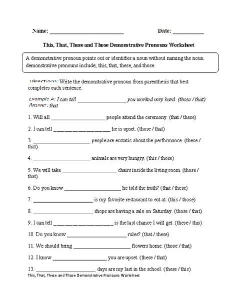 This,that,these,those Demonstrative Pronouns Worksheet  Englishlinxcom Board Pronoun