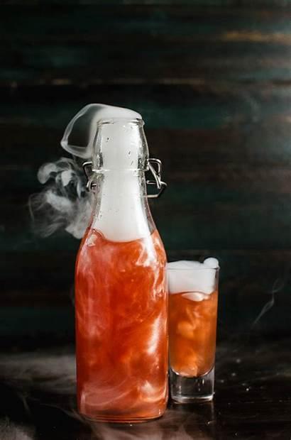 Shimmery Liqueur Flavored Vodka Orange Colors Homemade