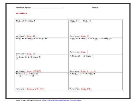 uncategorized log properties worksheet klimttreeoflife