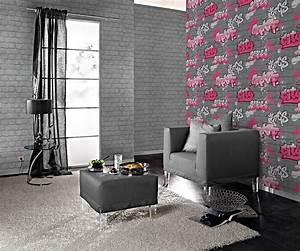 Tapete Jugendzimmer Mädchen : tapete kinder m dchen stein wand silber pink 237818 ~ Michelbontemps.com Haus und Dekorationen