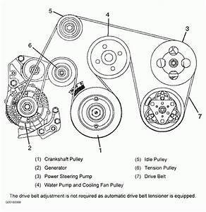 1999 - 2001 Isuzu Vehicross V6 3 5l Serpentine Belt Diagram