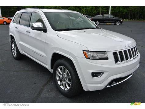 white jeep grand cherokee bright white 2014 jeep grand cherokee overland 4x4