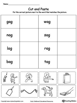 ag word family match letter and write the word early childhood phonics worksheets myteachingstation 28059