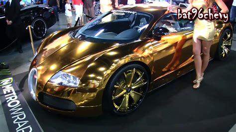 Gold Bugatti Veyron On Gold Forigato Wheels @forgiato Fest