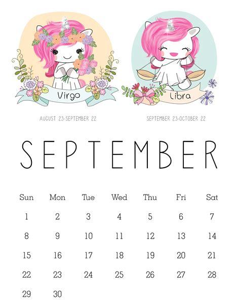 cute september  calendar design net market