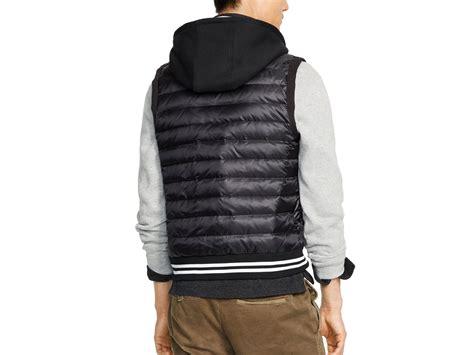 Ralph Lauren Polo Hooded Down Vest In Black For Men