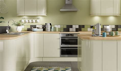 Sofia Cream Gloss Kitchen  Wickescouk