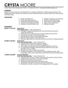 Maintenance Supervisor Resume Template Server Resume Exles Media Entertainment Resume Sles Livecareer