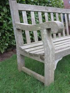 vintage wooden garden outdoor bench with great patina