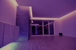 Abgehängte Decke Mit Led : indirekte led beleuchtung f r abgeh ngte decken mit rgb led strips selbstgemacht der blog ~ Indierocktalk.com Haus und Dekorationen