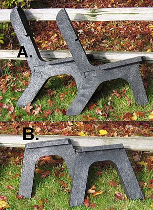 buy bench legs pair recycled plastic  cozywinters