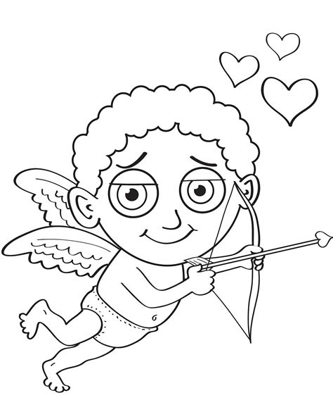 cute cupid coloring pages getcoloringpagescom