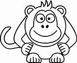 Coloring Monkey Pages Face Popular sketch template