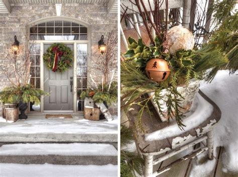 winter porch decorating images  pinterest la