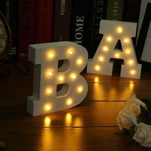 wooden 26 letters led night light festival lights party With lighted letter ornaments