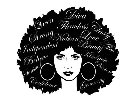 These are digital files, no physical item will be delivered. Black Women Nubian Princess Queen Afro Hair Beautiful ...