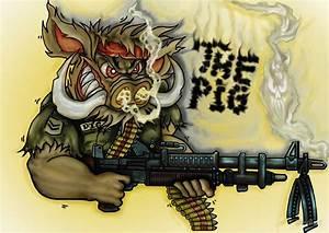 """Atomikboy´s Design War Pig"" by Devilart Redbubble"