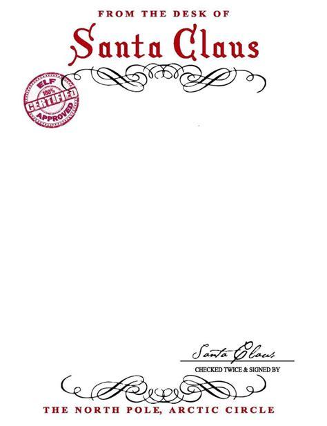 santa claus letterhead  bring lots  joy  children