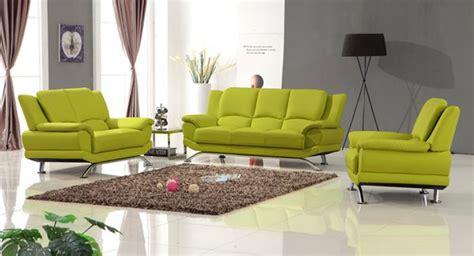 leather sofa set lime green