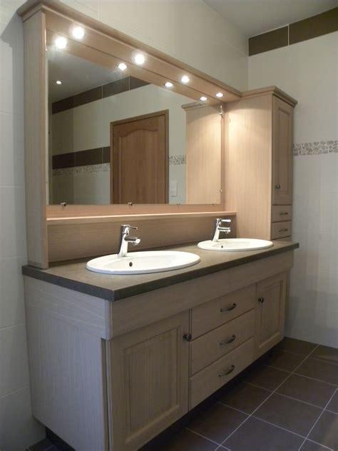 cuisiniste salle de bain salle de bains contemporaine chêne naturel verni mat