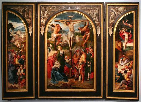 file cornelis engebrechtsz triptych with the crucifixion