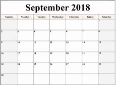 Calendar 2018 September – Free Printable 2018 Calendar