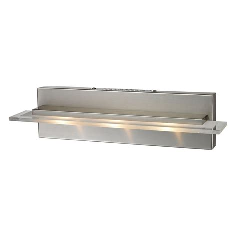 titan lighting linton 3 light satin nickel wall mount bath