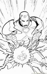 Coloring Avengers Pages Superhero sketch template