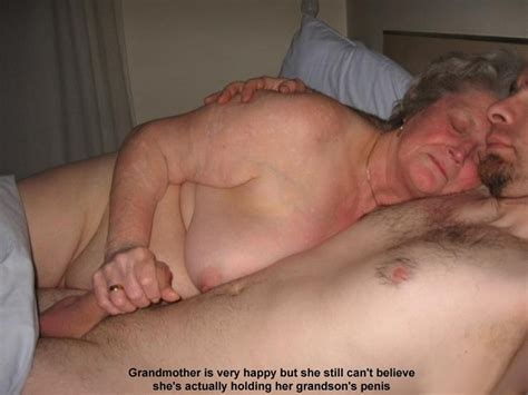 mature granny or mother taboo incest captions mom grandma son high