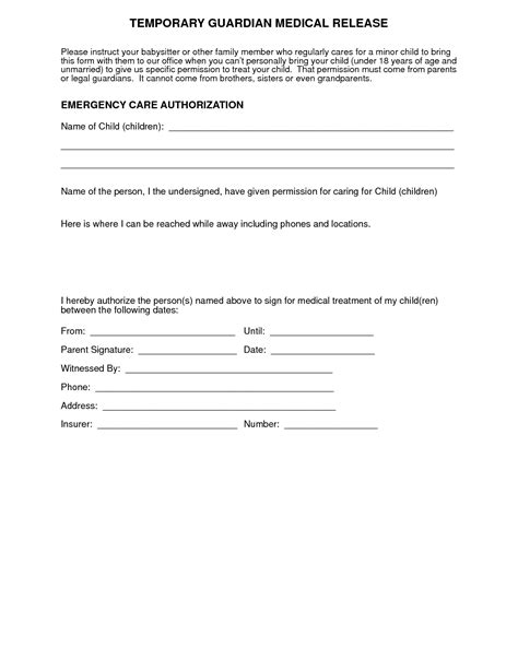 naming a guardian for your child template free guardianship template images template design ideas
