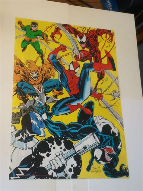 spider man poster  carnage venom doctor octopus  mark
