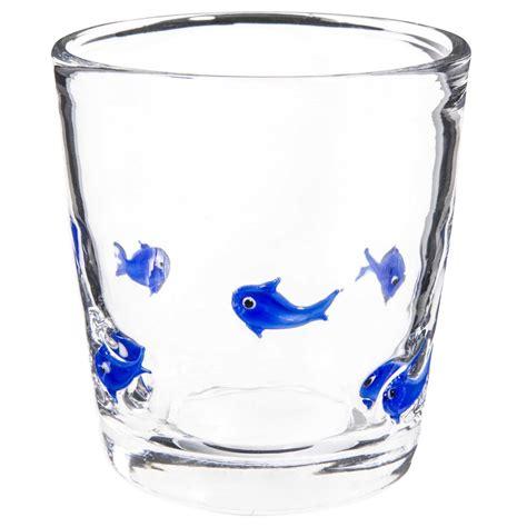 maison du monde bicchieri gobelet motif poissons bleus en verre maisons du monde