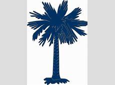 South Carolina Flag Palmetto With No Moon Clip Art at